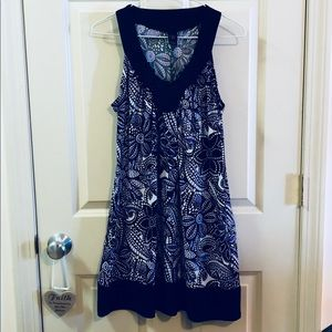 Wrapper printed sleeveless dress.  Size Small.